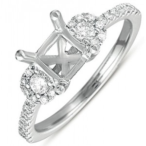 Ladies Pave Style Engagement Ring EN7358-1WG