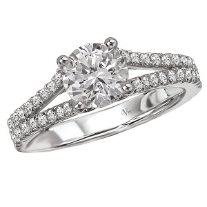 Split Shank Semi-Mount Diamond Ring 115195-100