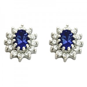Ladies Gemstone Earrings E1198-TWG