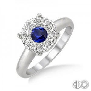 Ladies Lovebright Collection Fashion Ring 40885FVSPWG