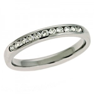 Ladies Channel Set Wedding Band D4057WG