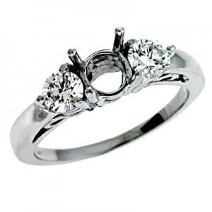 Ladies Three Stone Engagement Ring EN6681-PL