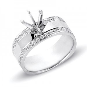 Ladies Pave Style Engagement Ring EN7027SEWG