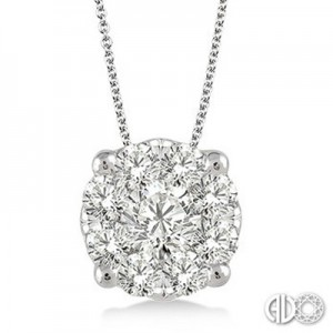 Ladies Lovebright Collection Pendant 91751FVPDWG