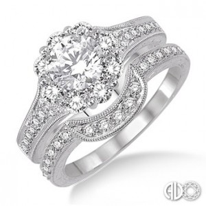Ladies I Do Collection Engagement Ring 26080FRWG-WS-1.20