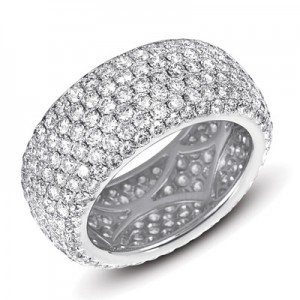 Ladies Pave Style Wedding Band D4134-PL