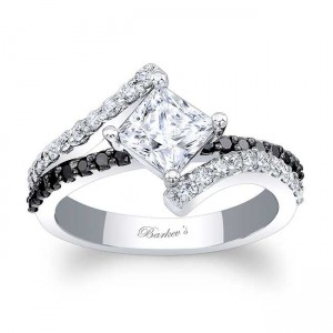 Black Diamond Engagement Ring 7976LBK
