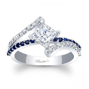 Blue Sapphire Engagement Ring 7976LBS