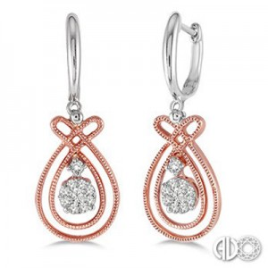 Ladies Lovebright Collection Earrings 64845FHERPW