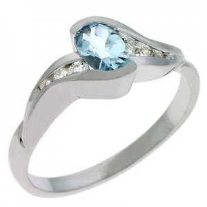 Ladies Fashion Ring C5224-AQWG