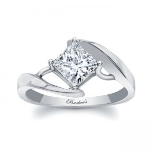 White Gold Solitaire Engagement Ring 8148L