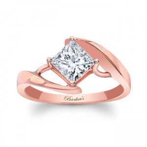 Rose Gold Solitaire Engagement Ring 8148LP