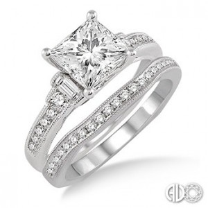Ladies I Do Collection Engagement Ring 14610FVWG-WS-1.10