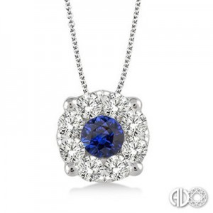 Ladies Lovebright Collection Pendant 58475FVPDSPWG