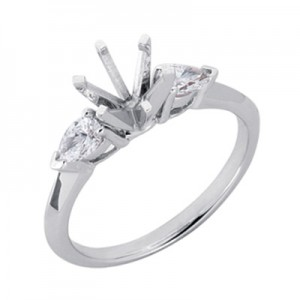 Ladies Three Stone Engagement Ring EN1902-PL