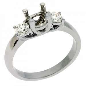 Ladies Three Stone Engagement Ring EN6677WG