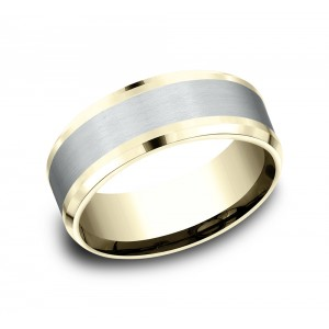 BENCHMARK Mens Two-Tone Wedding Band CF188010