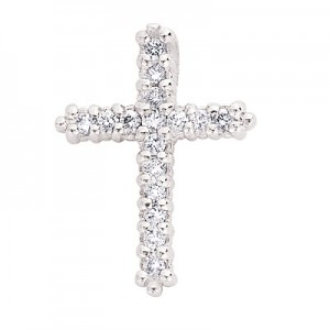 Ladies Diamond Cross Pendant P2572WG