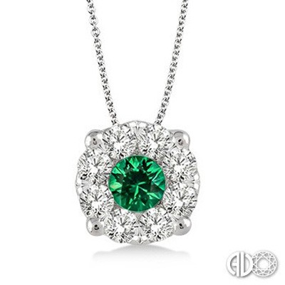Ladies Lovebright Collection Pendant 58475FVPDEMWG