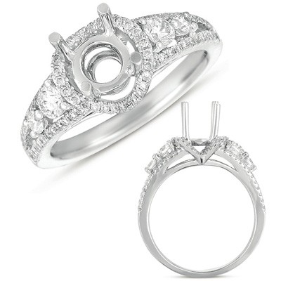 Ladies Halo Style Engagement Ring EN7416-PL