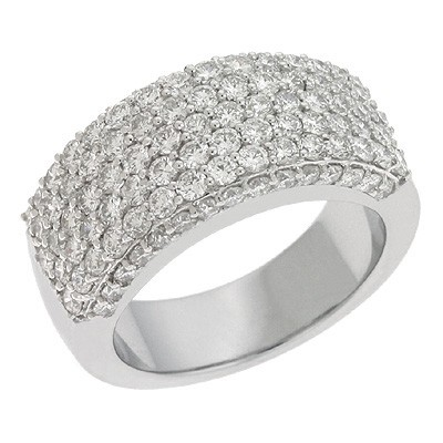 Ladies Pave Style Wedding Band D3854WG