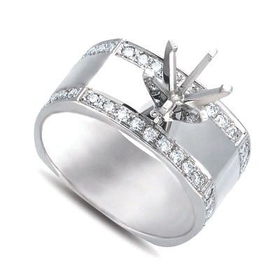 Ladies Pave Style Engagement Ring EN7028SEWG