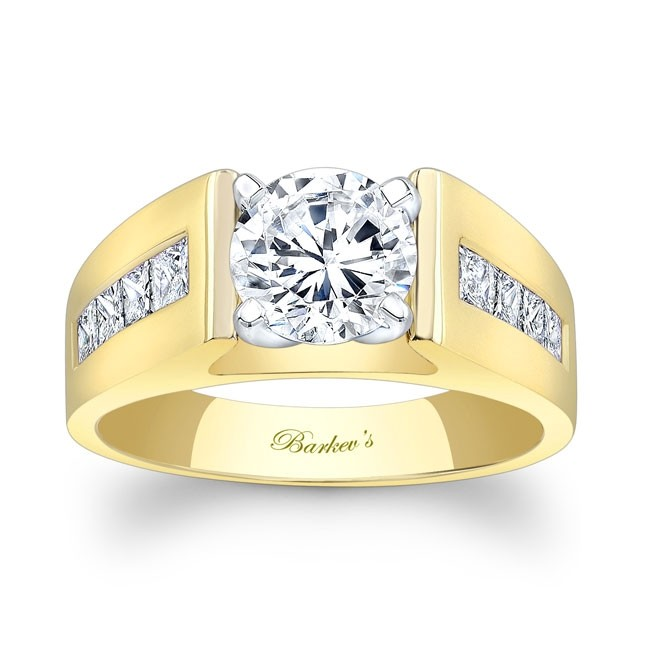 Yellow Gold Engagement Ring 6801LY