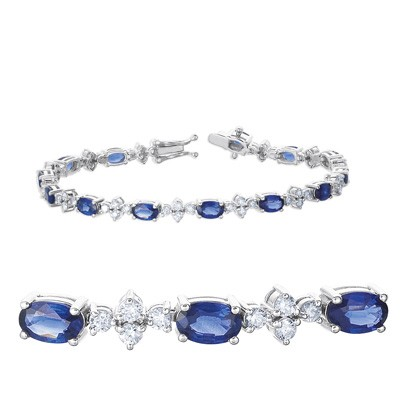 Ladies Gemstone Bracelet B4313-SWG