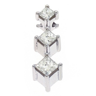 Ladies Three Stone Pendant P2666WG