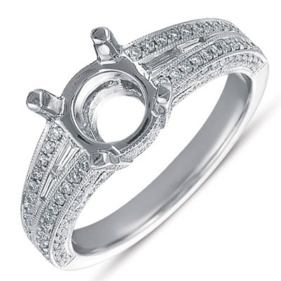 Ladies Pave Style Engagement Ring EN7229RDWG