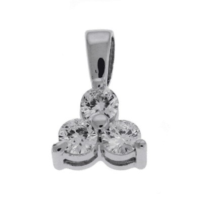 Ladies Three Stone Pendant P2712WG