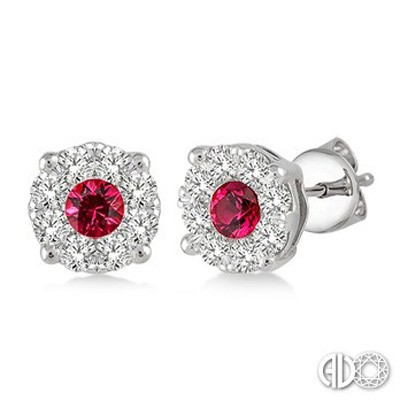Ladies Lovebright Collection Earrings 58473FVERRBWG