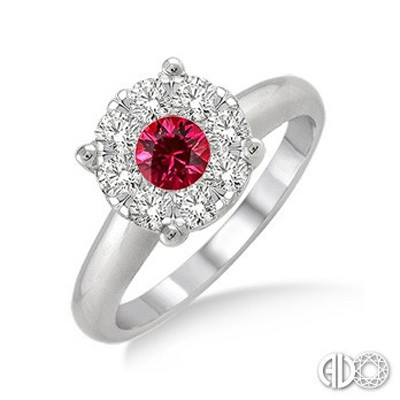 Ladies Lovebright Collection Fashion Ring 40885FVRBWG