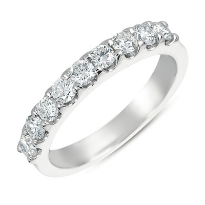 Ladies Prong Set Wedding Band EN7164-BWG