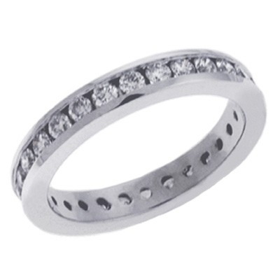 Ladies Channel Set Wedding Band D3601WG