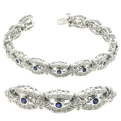 Ladies Gemstone Bracelet B4203-SWG