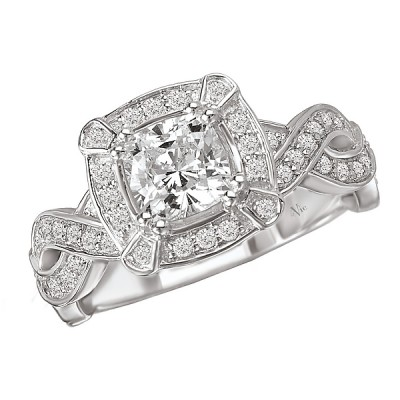 Halo Semi-Mount Diamond Ring 115002-100