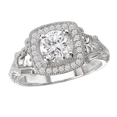 Halo Semi-Mount Diamond Ring 115003-100