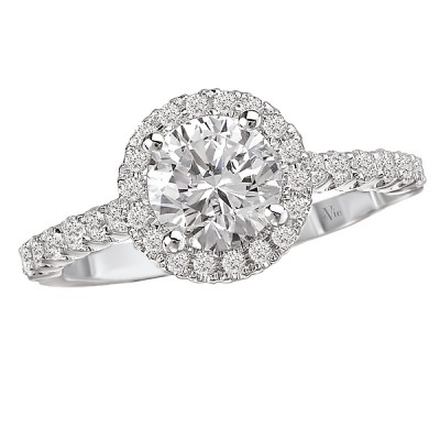 Halo Semi-Mount Diamond Ring 115035-100A