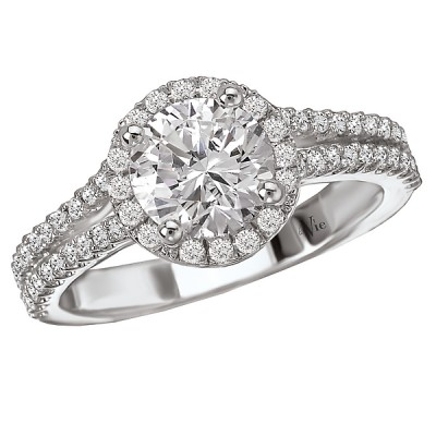 Halo Semi-Mount Diamond Ring 115206-100A