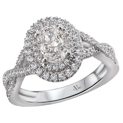 Halo Semi-Mount Diamond Ring 115401-100