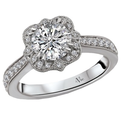 Halo Semi-Mount Diamond Ring 115402-100
