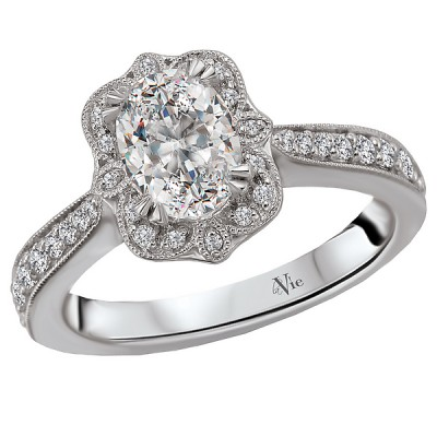 Halo Semi-Mount Diamond Ring 115403-100