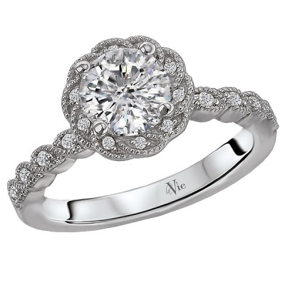 Halo Semi-Mount Diamond Ring 115419-RD100