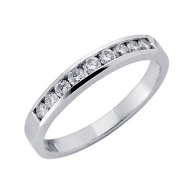 Ladies Channel Set Wedding Band D0332WG