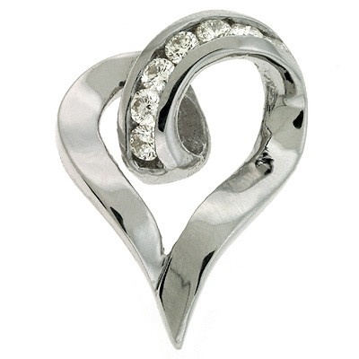 Ladies Heart Pendant P2121WG