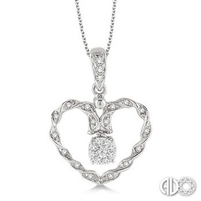 Ladies Lovebright Collection Pendant 93978FHPDWG