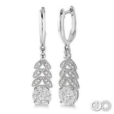 Ladies Lovebright Collection Earrings 64813FNERWG