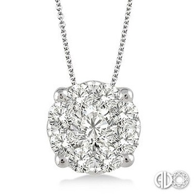 Ladies Lovebright Collection Pendant 91750FVPDWG-1.50