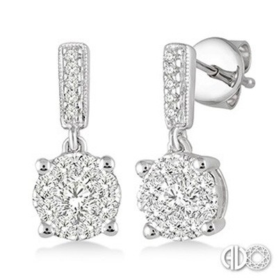 Ladies Lovebright Collection Earrings 94893FVERWG